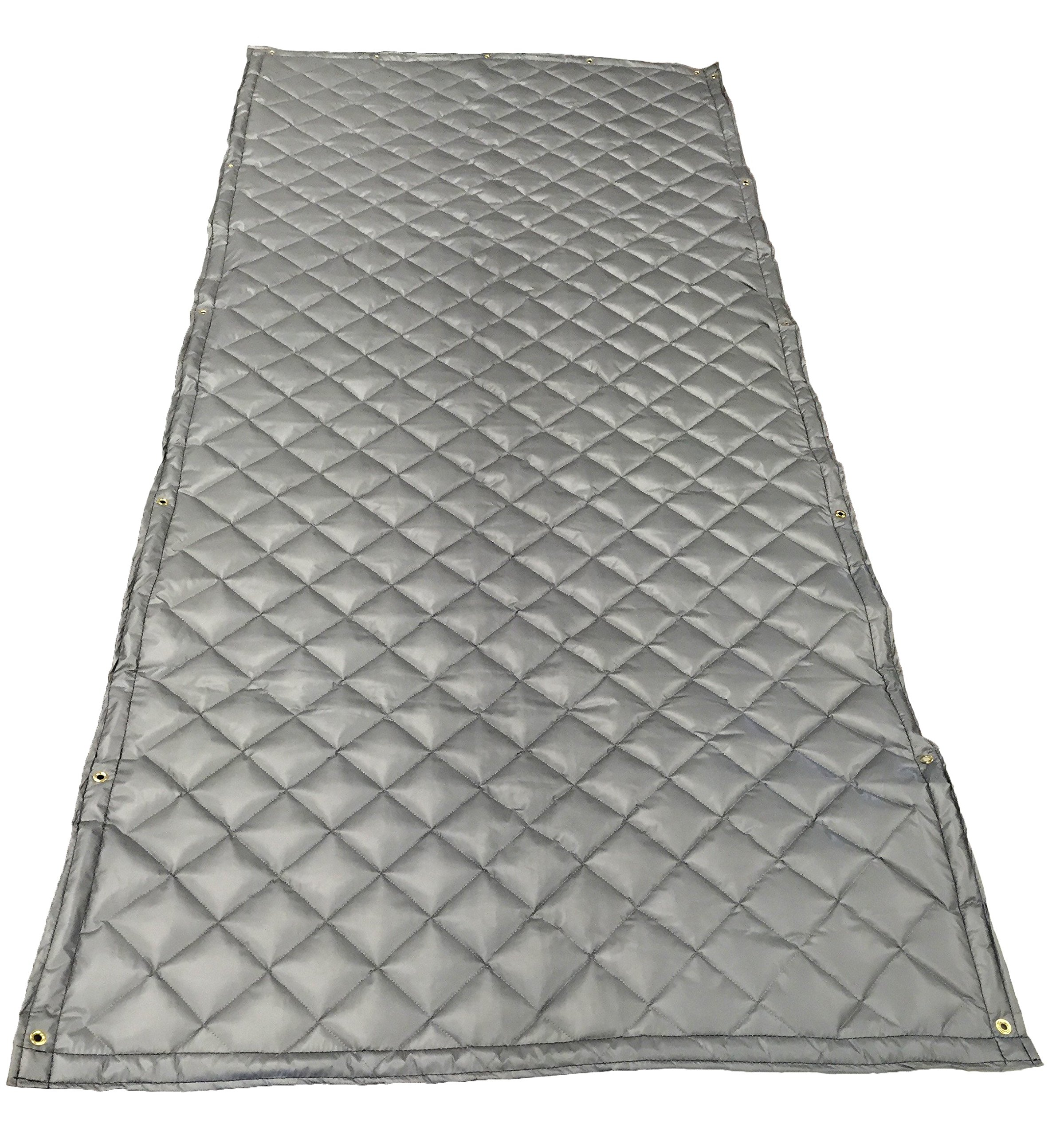 Acoustic Blanket - 4'-6'' X 8' Single Faced Fiberglass Wall Blanket w/ Grommets