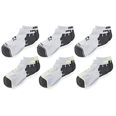 Starter Boys' 6-Pack Athletic Low-Cut Ankle Socks, Prime Exclusive