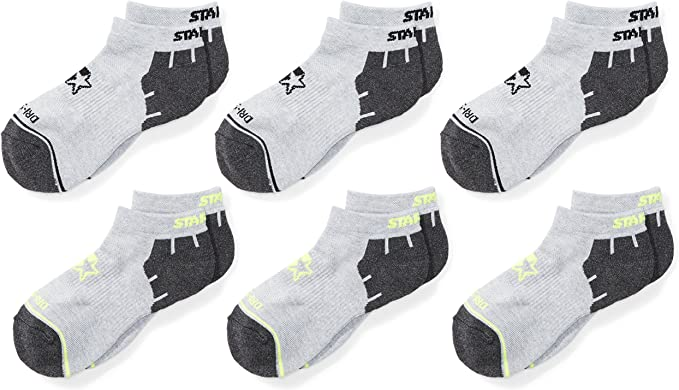 Exclusive Starter Boys 6-Pack Athletic Low-Cut Ankle Socks