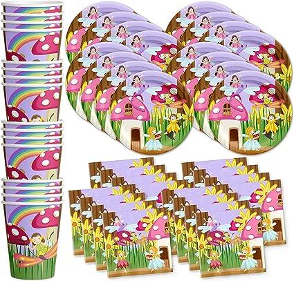 Amazon.com: Jardín de hadas fiesta de cumpleaños suministros ...