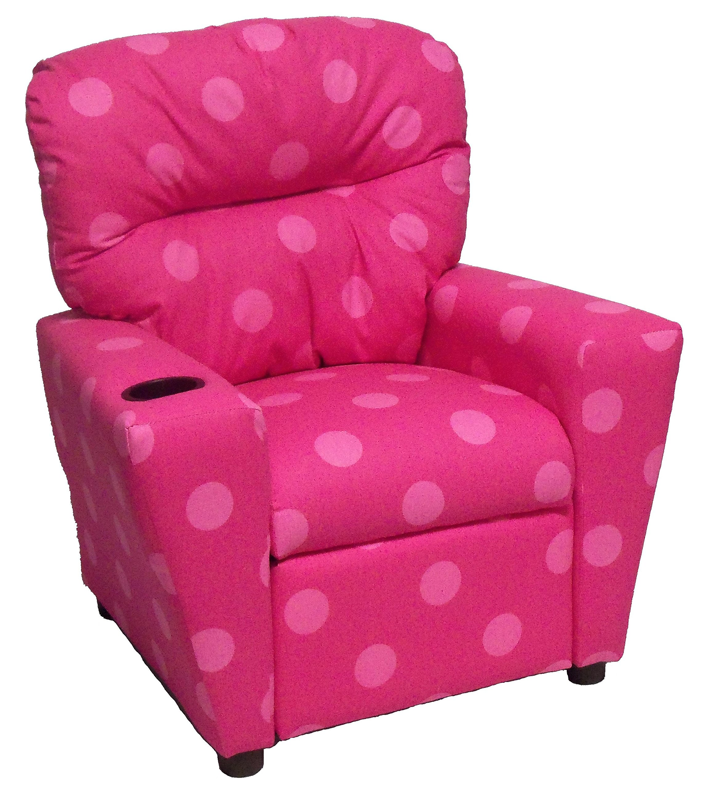 Brazil Furniture 401C-oxygen pink Children's Home Theater Recliner with Cupholder, Oxygen Pink