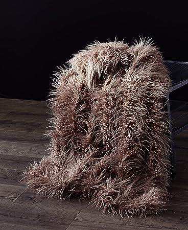 Amazon.com: Orient Home Collection De Moocci - Manta de piel ...