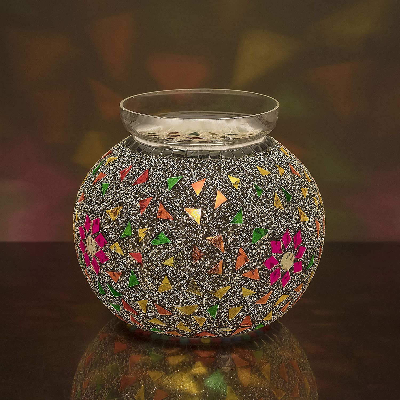 Flower and Light Bedside Persian Beads Mosaic LampDesk Seed Homesake® Lamp Multicolor 5jR3AL4q