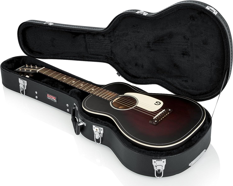 GATOR GWE-ACOU-3/4 - Estuche para guitarra acústica 3/4 de madera, color negro: Amazon.es: Instrumentos musicales