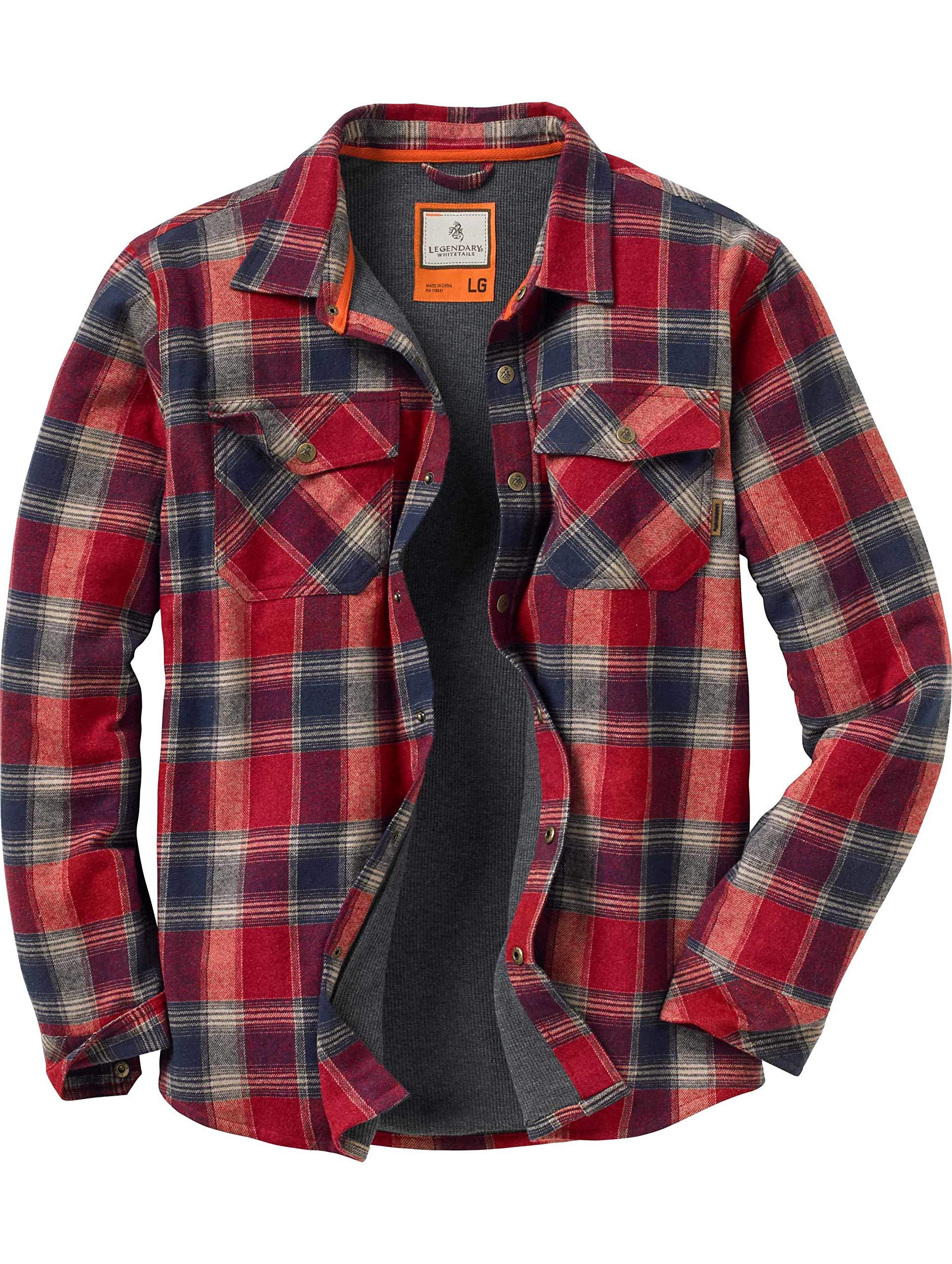 Legendary Whitetails Archer Shirt Jacket, Barnwood Twig Plaid, Medium by Legendary Whitetails