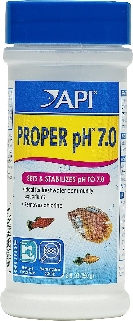 Amazon Com Api Proper Ph 7 0 Freshwater Aquarium Water Ph Stabilizer 8 8 Ounce Container Aquariums Pet Supplies