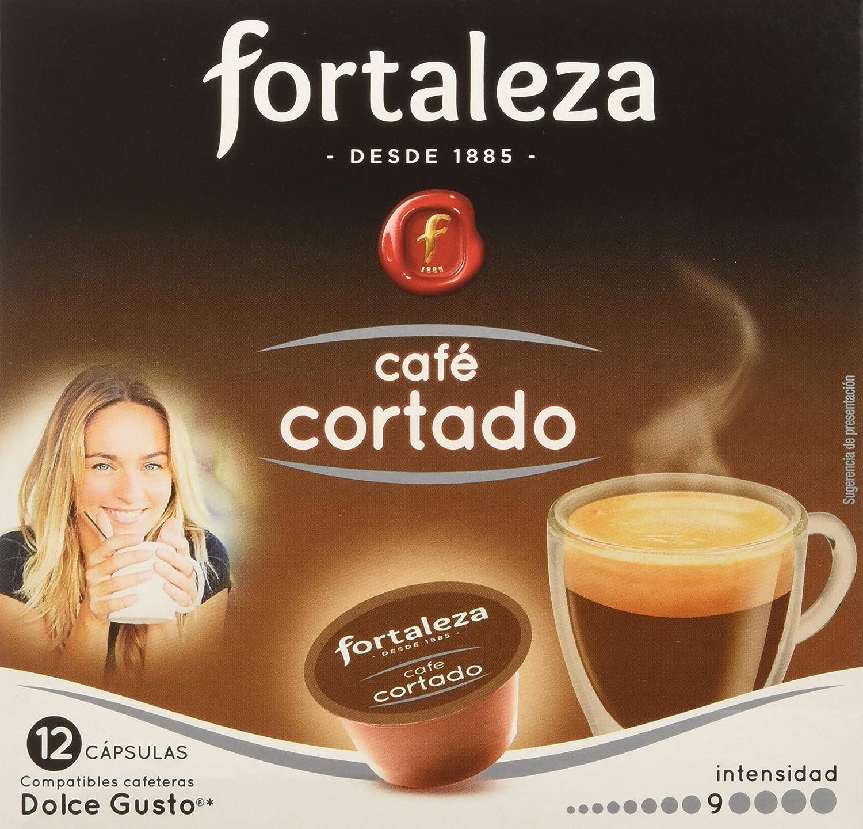 Café FORTALEZA - Cápsulas de Café Cortado Compatibles con Dolce Gusto - Pack 3 x 12 - Total 36 cápsulas: Amazon.es: Alimentación y bebidas