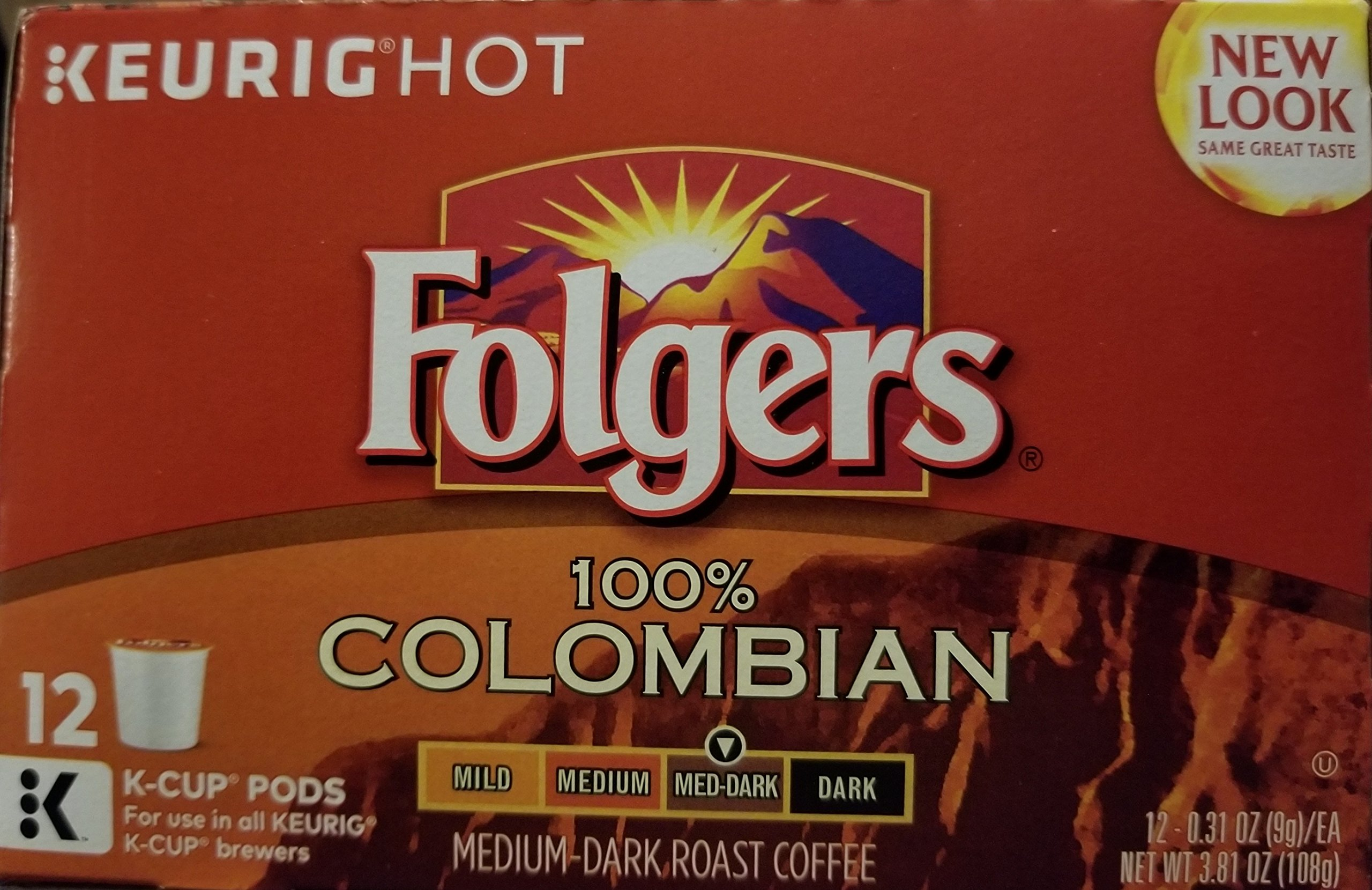 Folgers Gourmet Selections Keurig Brewed, Lively Columbian, Medium, K-Cup-12 ct