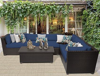 Amazon.com: TK Classics Barbados 7 piezas muebles de mimbre ...