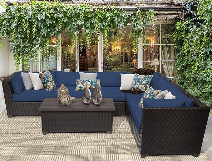 Amazon.com: TK Classics 7 pieza Barbados Muebles de mimbre ...