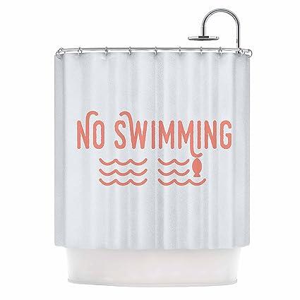 Amazon KESS InHouse Jackie Rose No Swimming Pink Typography