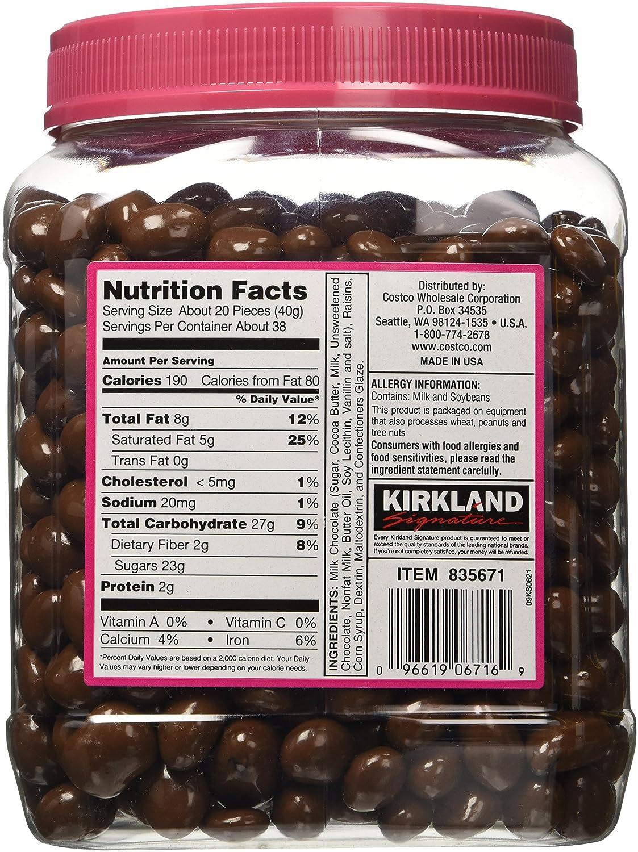 Amazon.com : Kirkland Signature Milk Chocolate, Raisins, 54 Ounce ...