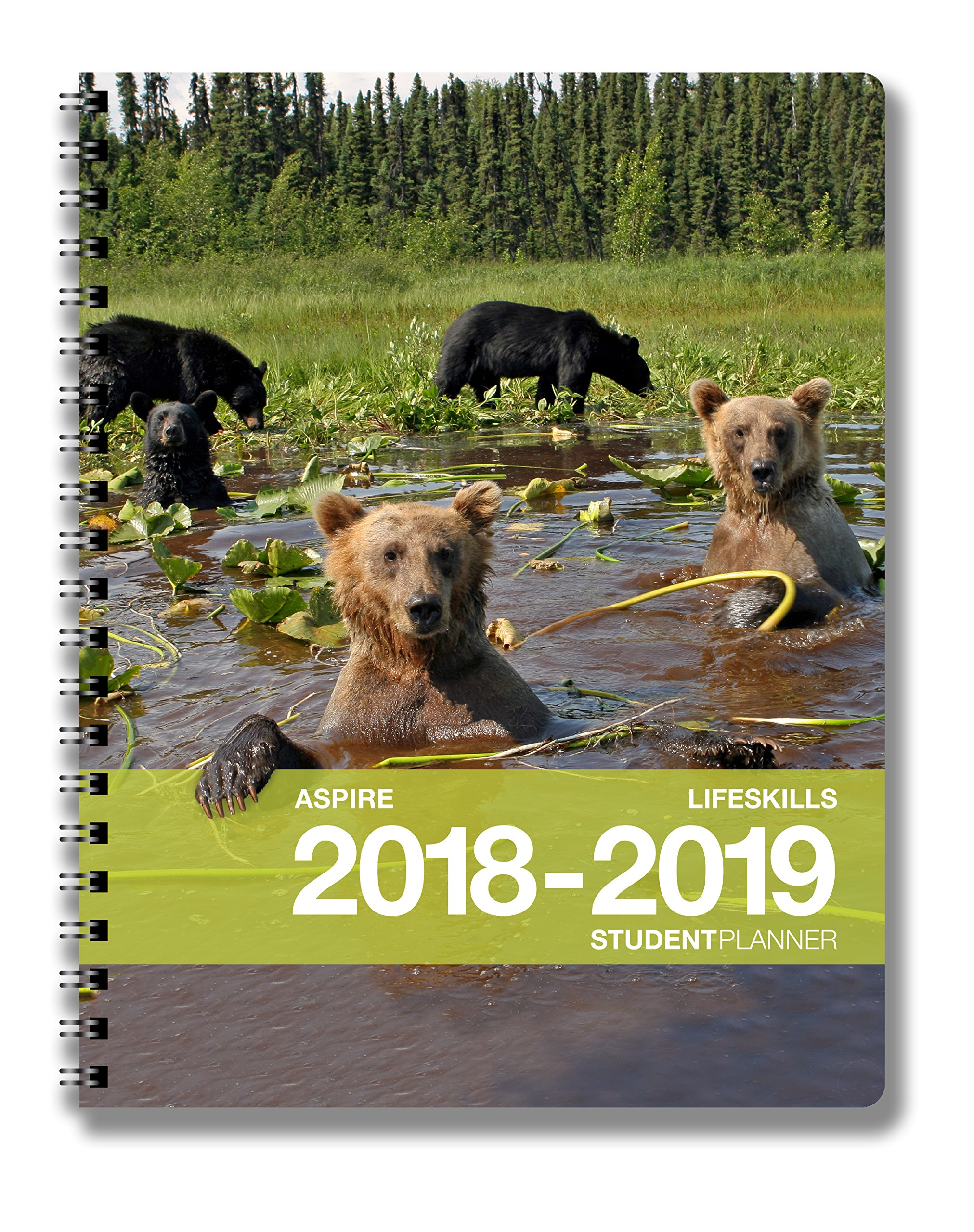 Aspire Student Planner (8.5 x 11 inches) August 2018 - July 2019 Academic Agenda - Inspiring Full Color Organizer For Goal Setting, Time Management, Study Skills & More - [Grades 6th - College]