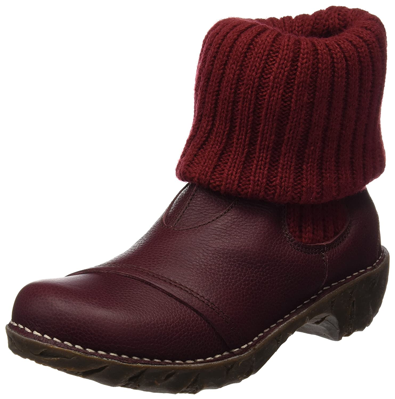 El Naturalista Damen N097 Soft Grain Rioja Yggdrasil Kurzschaft Stiefel