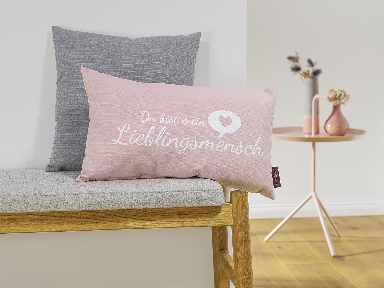 Kissen Lieblingsmensch Altrose 30x50cm Made In Germany: Amazon.de: Küche U0026  Haushalt