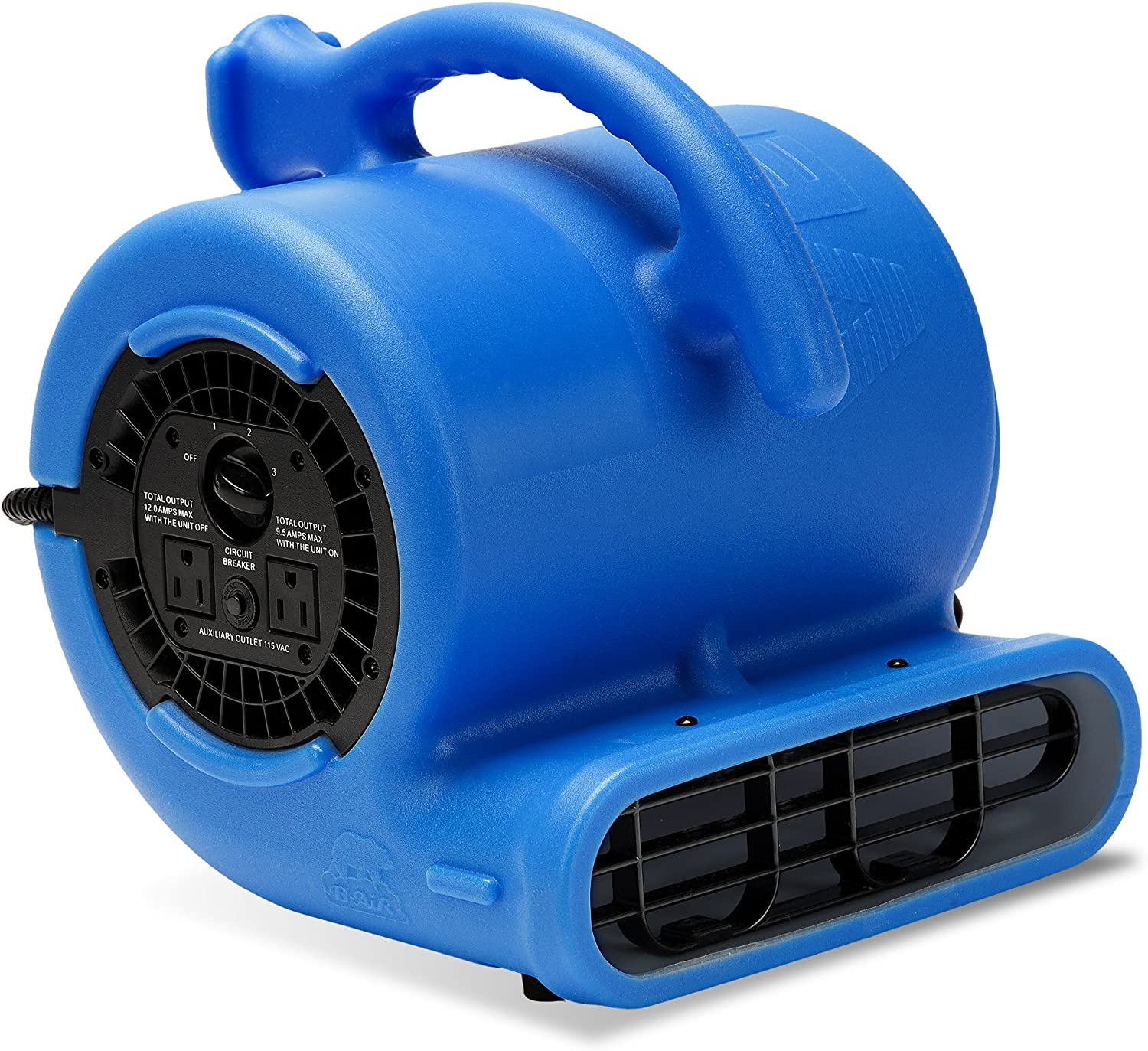 B-Air VP-25 1 4 HP 900 CFM Air Mover for Water Damage Restoration Equipment Carpet Dryer Floor Blower Fan Home and Plumbing Use, Blue