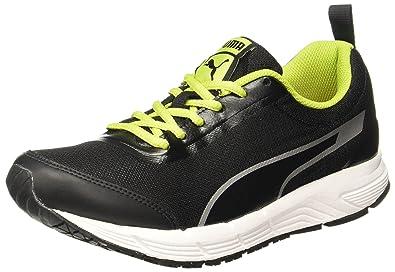 Puma Men's Rafter II IDP Puma Black-Limepunch-Puma Silver Running Shoes - 10
