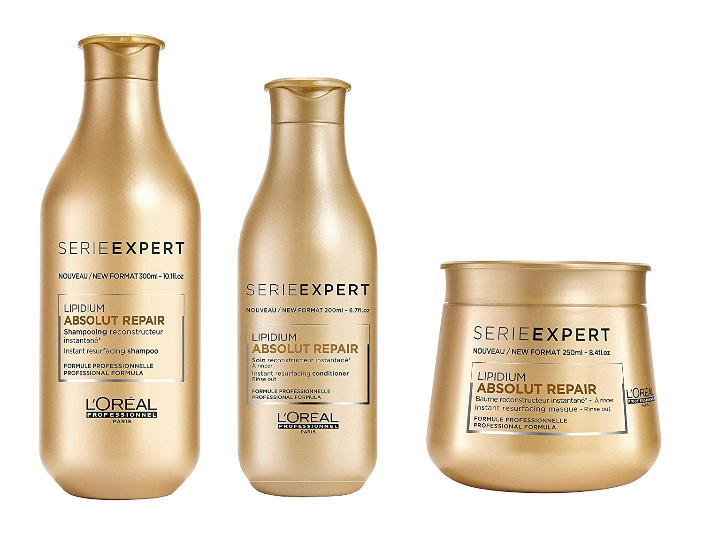 L 'Oreal Serie Expert Absolut Repair LIPIDIUM Shampoo 300ml, Conditioner 200ml und Maske 250ml Krissell