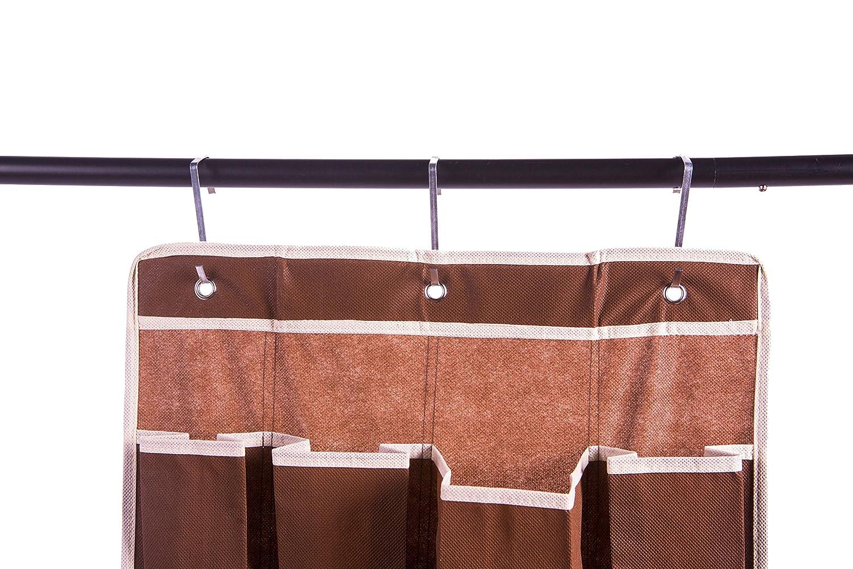 Amelitory Over The Door Shoe Organizer 20 Pockets Hanging Shoe Storage Fabric Beige