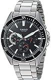 Reloj Casio Analógico para Hombres 45mm, pulsera de Acero Inoxidable