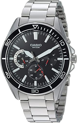 casio men s mtd 320d 1avcf sports analog display quartz silver watch
