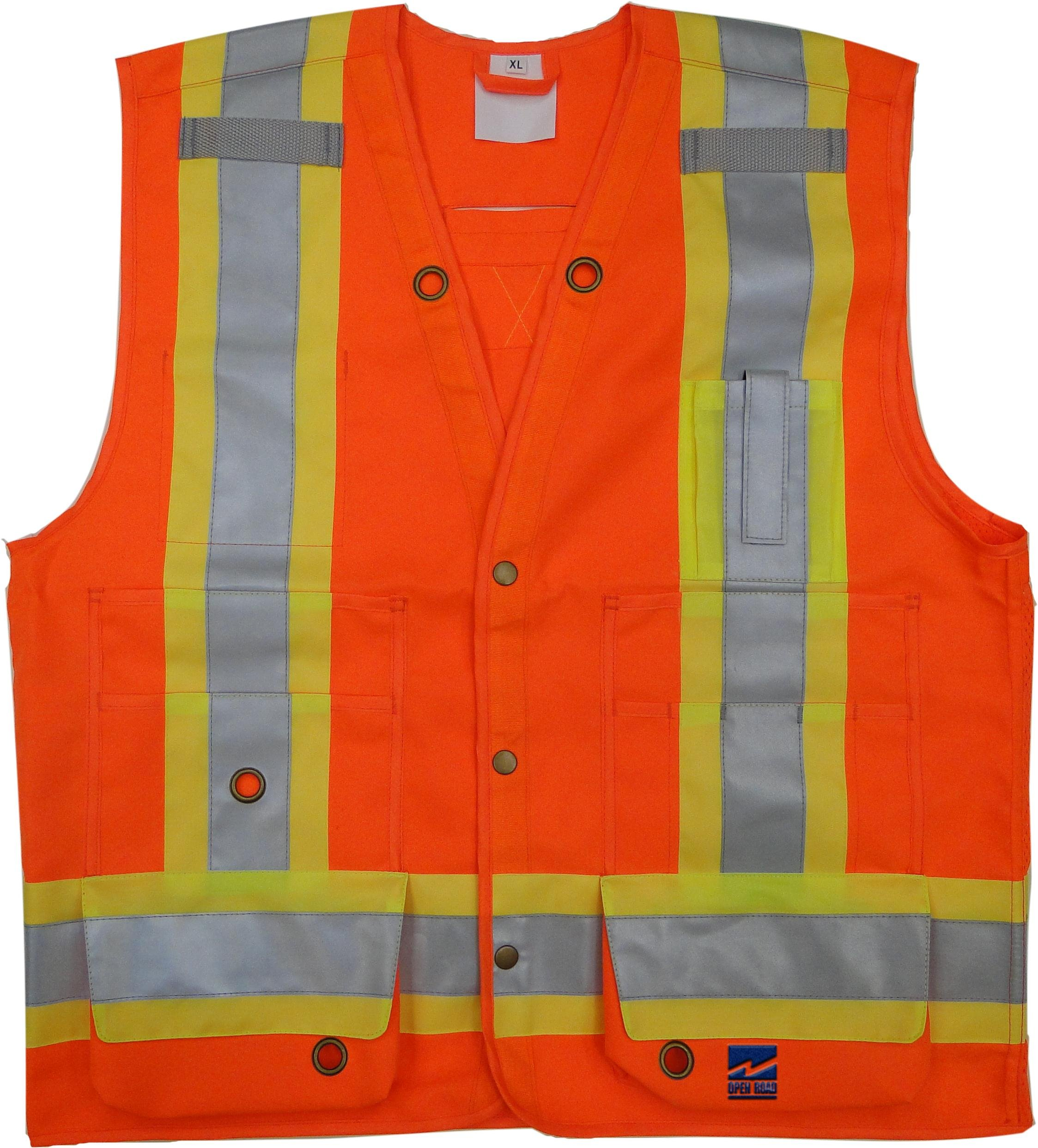 Viking Open Road Surveyor Hi-Vis Safety Vest, Hi-Vis Orange, XX-Large