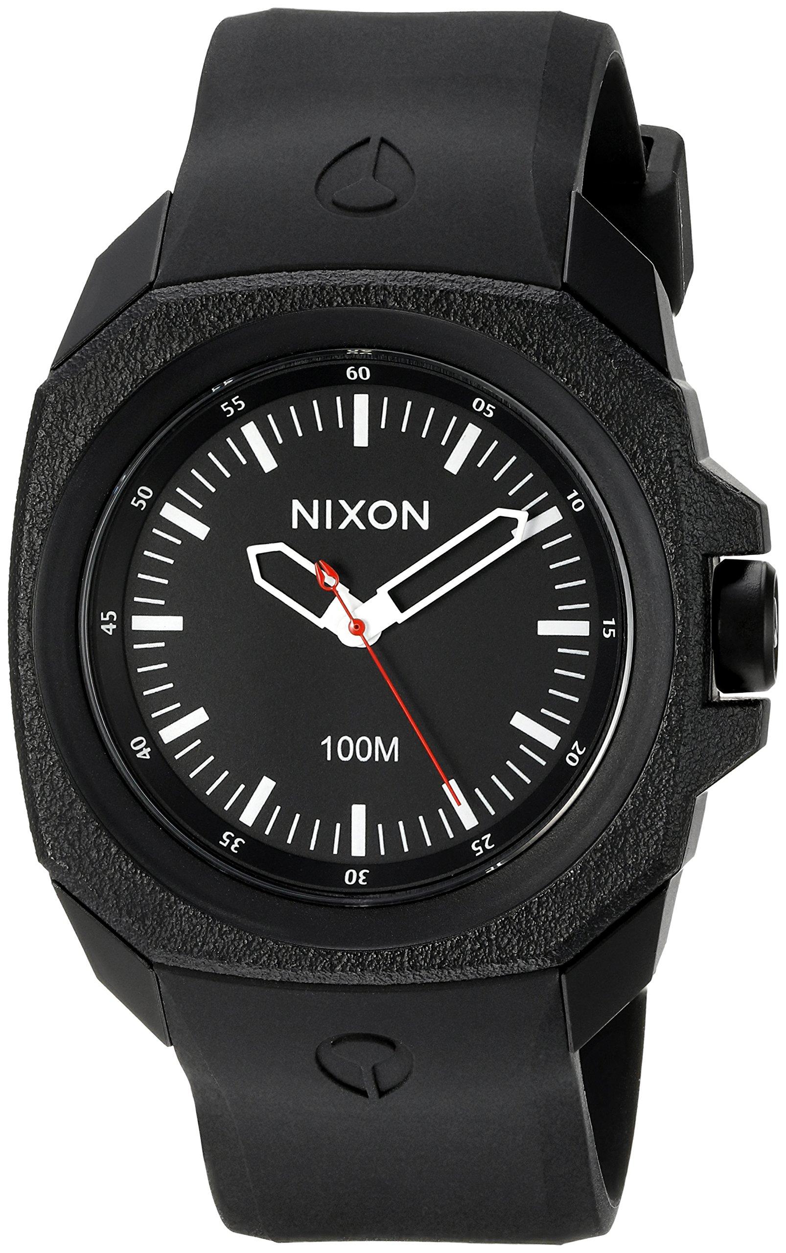 Nixon Men's A349-001-00 Ruckus Analog Display Japanese Quartz Black Watch