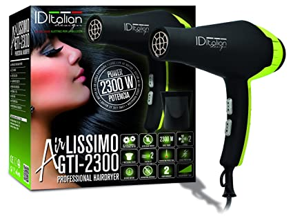 ID Italian Design | Secador de Pelo Silencioso 2 Modos de Calor, 2 Velocidades de