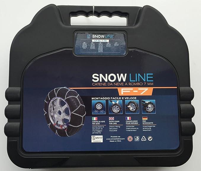 07X080 Catene da Neve Power Grip 7mm Omologate gruppo 80 pneumatici 205//45r17