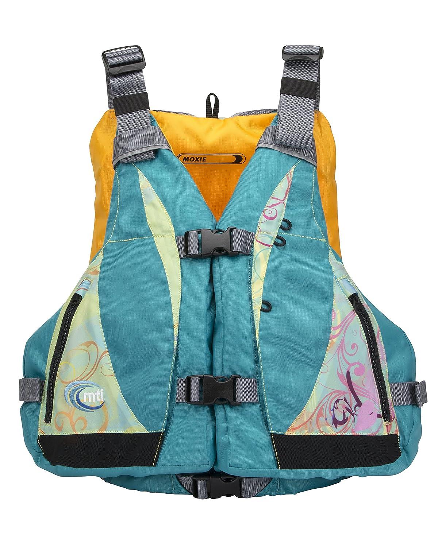 MTI Adventurewear レディース ライフジャケット 2017 Moxie PFD 胸囲調整可能 Large Turquoise/Caribe Print B01MECF3KS