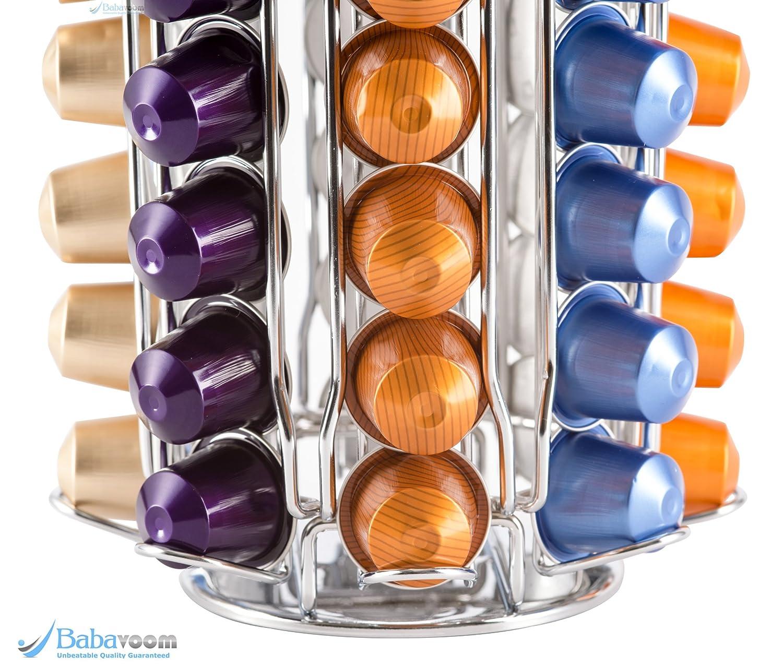 Porte-capsules Nespresso KRUPS rotatif et chrom é   Distributeur  à capacit  1de1e9f58841