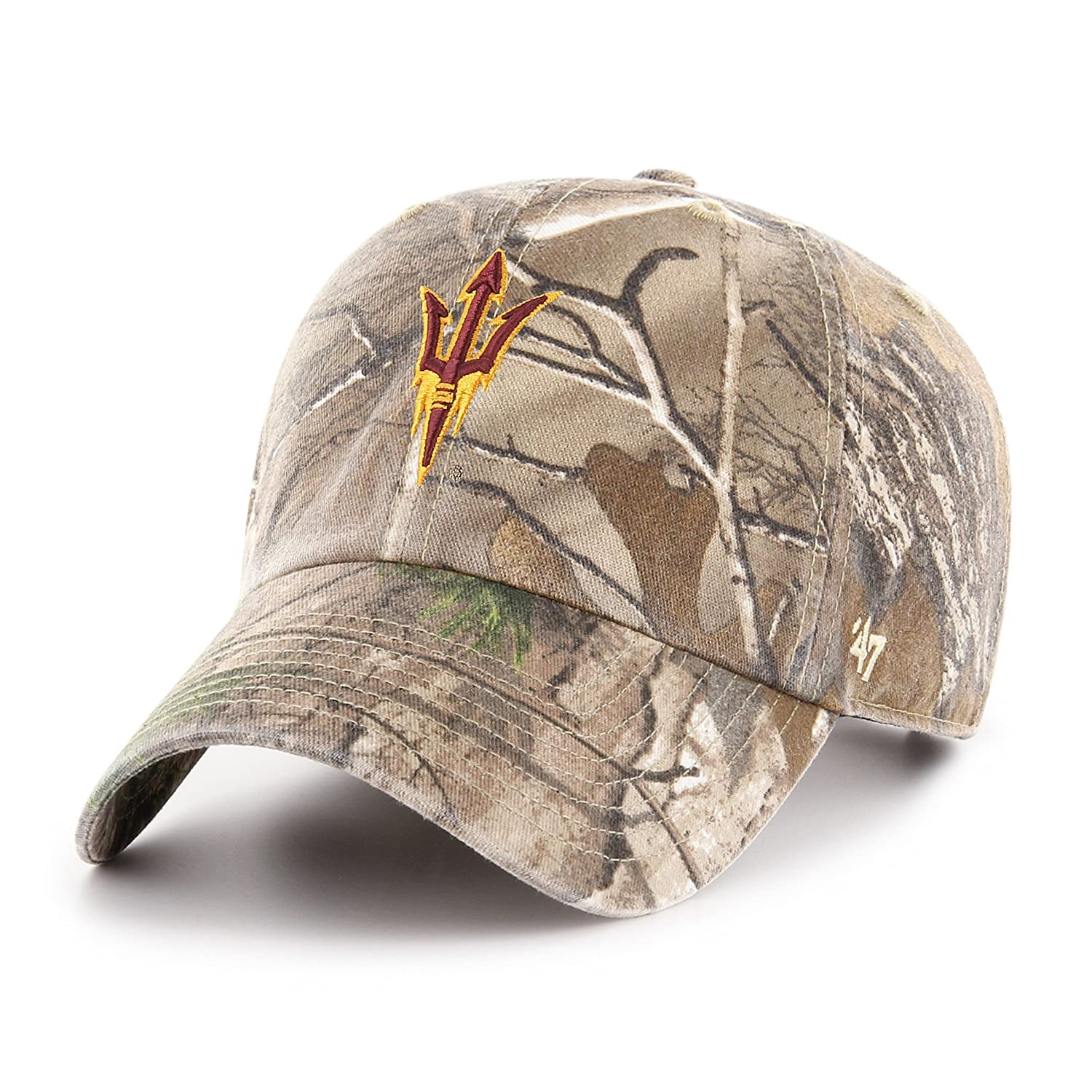 68ec595044aade Amazon.com : '47 NCAA Arizona State Sun Devils Adult Clean Up Realtree  Adjustable Hat, One Size, Realtree Camo : Sports & Outdoors