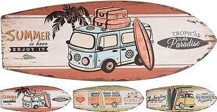 Elyte Retail Letrero de madera con diseño de tabla de surf, para vacaciones de verano