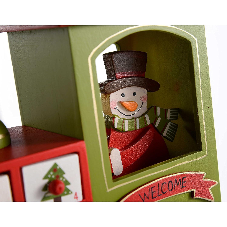 WeRChristmas Weihnachtsdekoration Adventskalender-Zug Adventskalender-Zug Adventskalender-Zug aus Holz, Mehrfarbig, 30 cm B01FWFPD54 Zierschmuck ea16c7