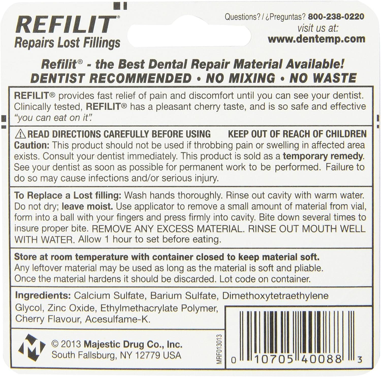 Refilit Lost Filling Repair, Cherry, (Pack of 6): Health & Personal Care