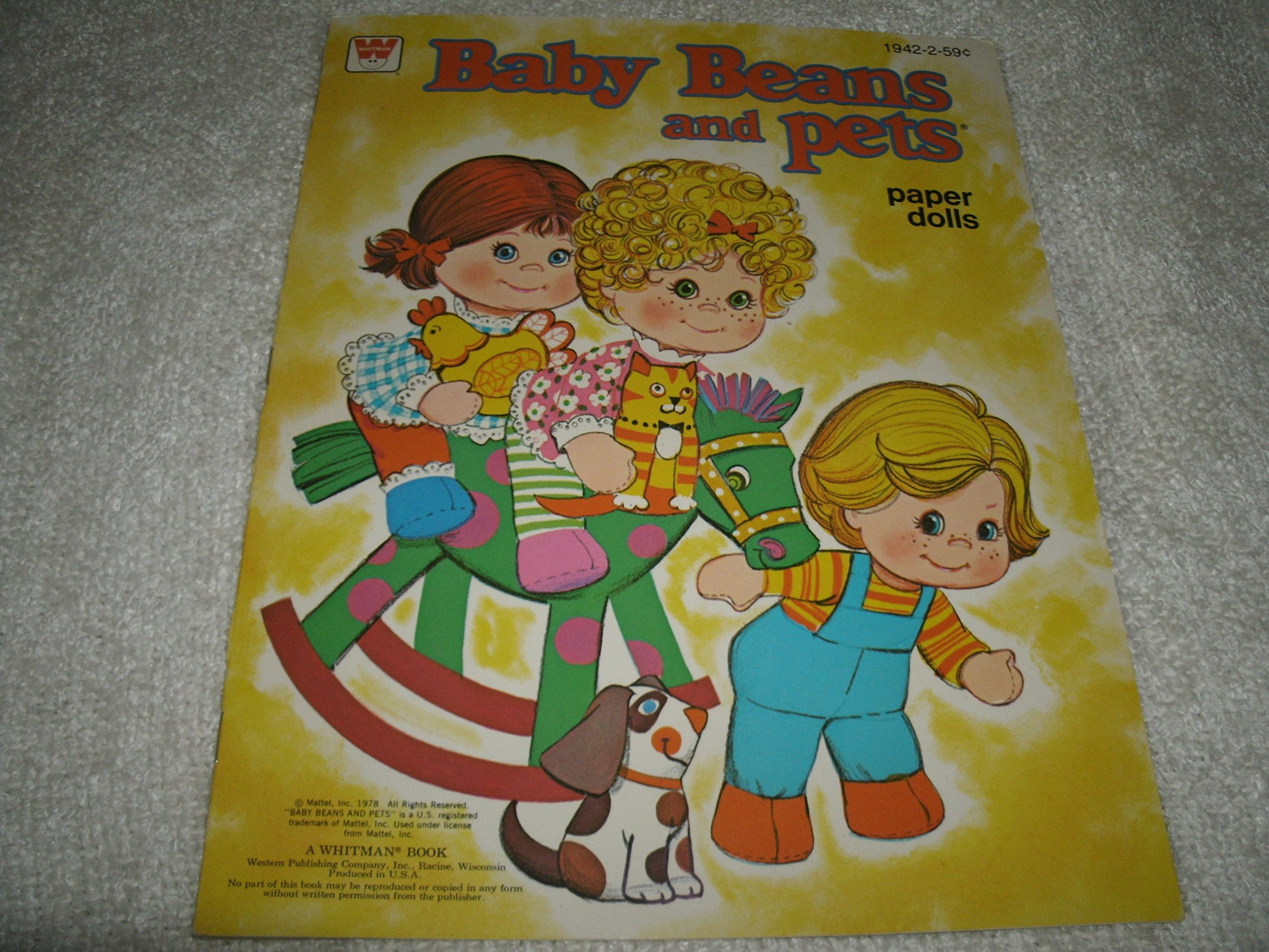 Mattel 1978 Baby BeansとペットPaper Dolls by Mattel (Image #1)