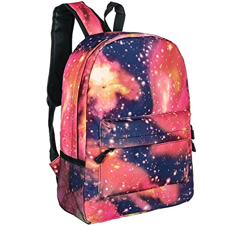 Amazon.com   Galaxy Design School Backpack, 16 Inch Red Fashion Student  Book Bags   Kids  Backpacks 390374ca8b