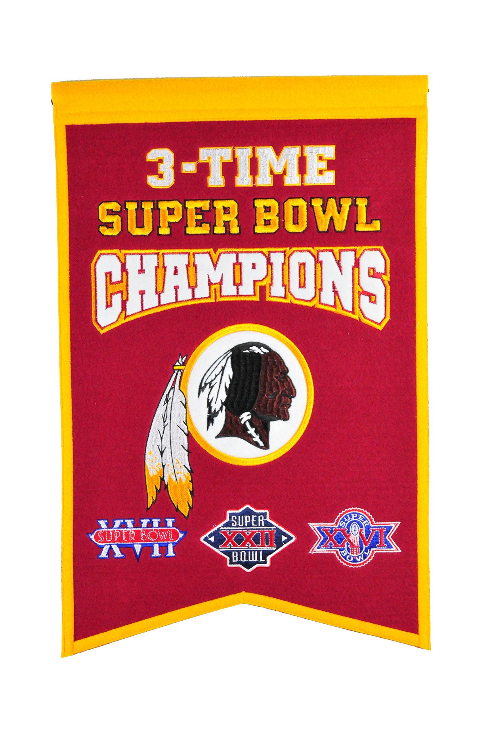 NFL Washington Redskins Super Bowl Champions Banner by Winning Streak