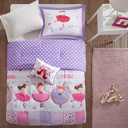 Amazon.com: PH 4 Piece Girls Purple Pink Character Floral