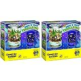 Creativity for Kids mwgBZK Grow 'n Glow Terrarium (Pack of 2)