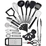 Home Hero Kitchen Utensil Set - 25 Nylon Cooking Utensils - Kitchen Utensils with Spatula - Kitchen Gadgets Cookware Set - Ki