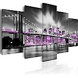 murando - Cuadro 200x100 cm - New York - impresión de 5 Piezas - Material Tejido no Tejido - impresión artística - Imagen gráfica - Decoracion de Pared - Ciudad 030102-25