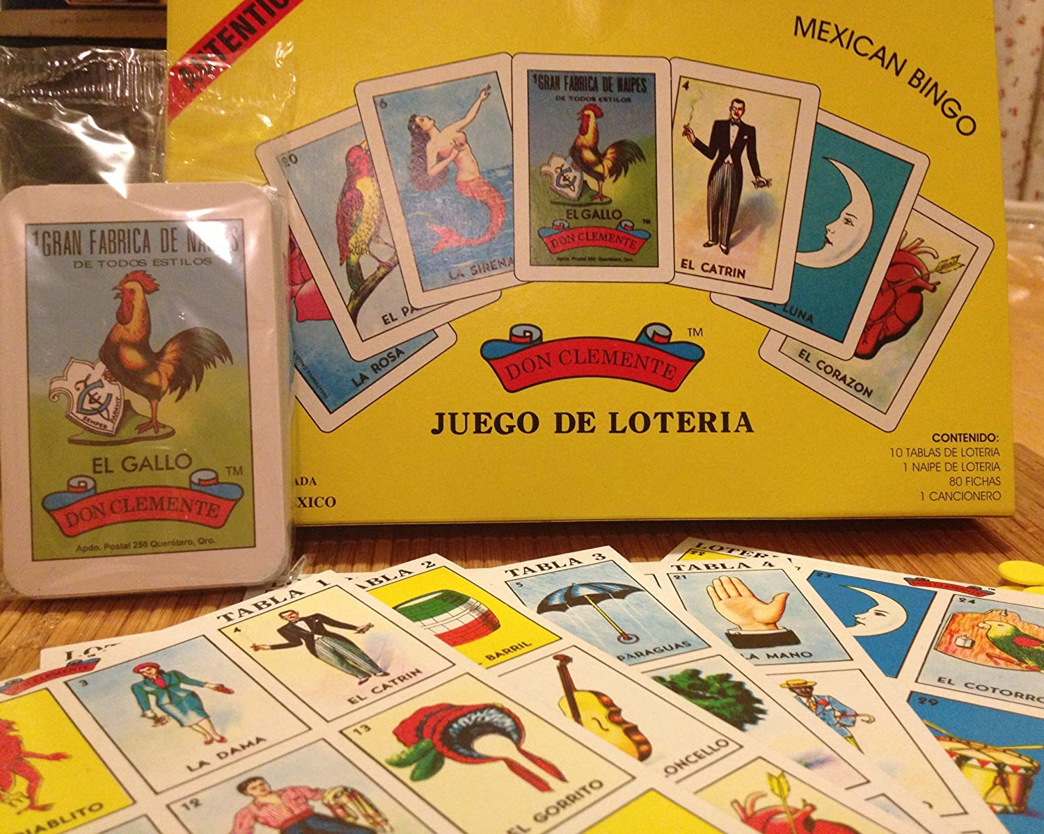 Amazon.com: Authentic Mexican Loteria Don Clemente Marca Registrada Game: Toys & Games