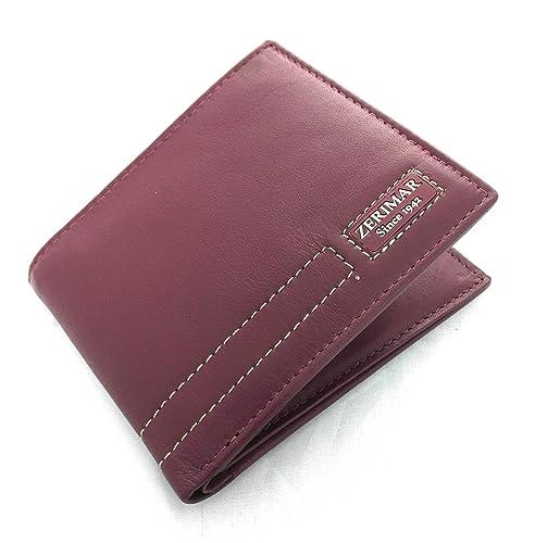 Zerimar Cartera billetera Americana Cartera hombre | carteras de piel hombre| carteras de hombre |carteras con tarjetero Medidas: 11 x 9 cms: Amazon.es: ...