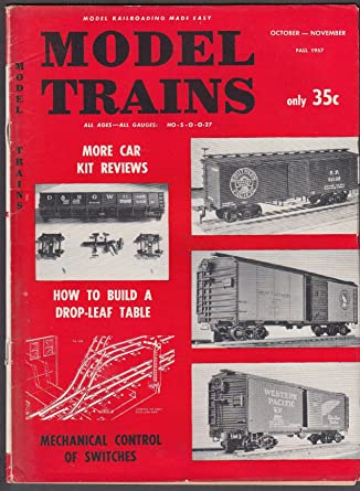 MODEL TRAINS Car Kit Reviews; Drop-Leaf Table; Mechanical Control ++ Fall 1957 at Amazons Entertainment Collectibles Store