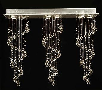 Modern chandelier rain drop lighting crystal ball fixture pendant modern chandelier rain drop lighting crystal ball fixture pendant ceiling lamp h31 x w39 x d10 aloadofball Image collections