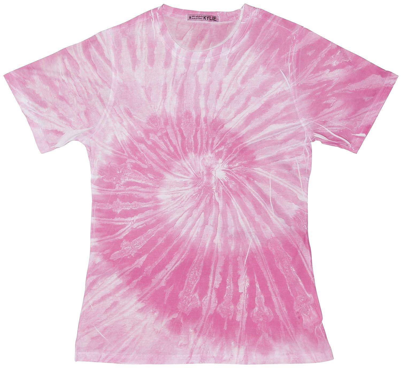 Colortone Womens Tie-Dye Crew Neck Short Sleeve T-Shirt