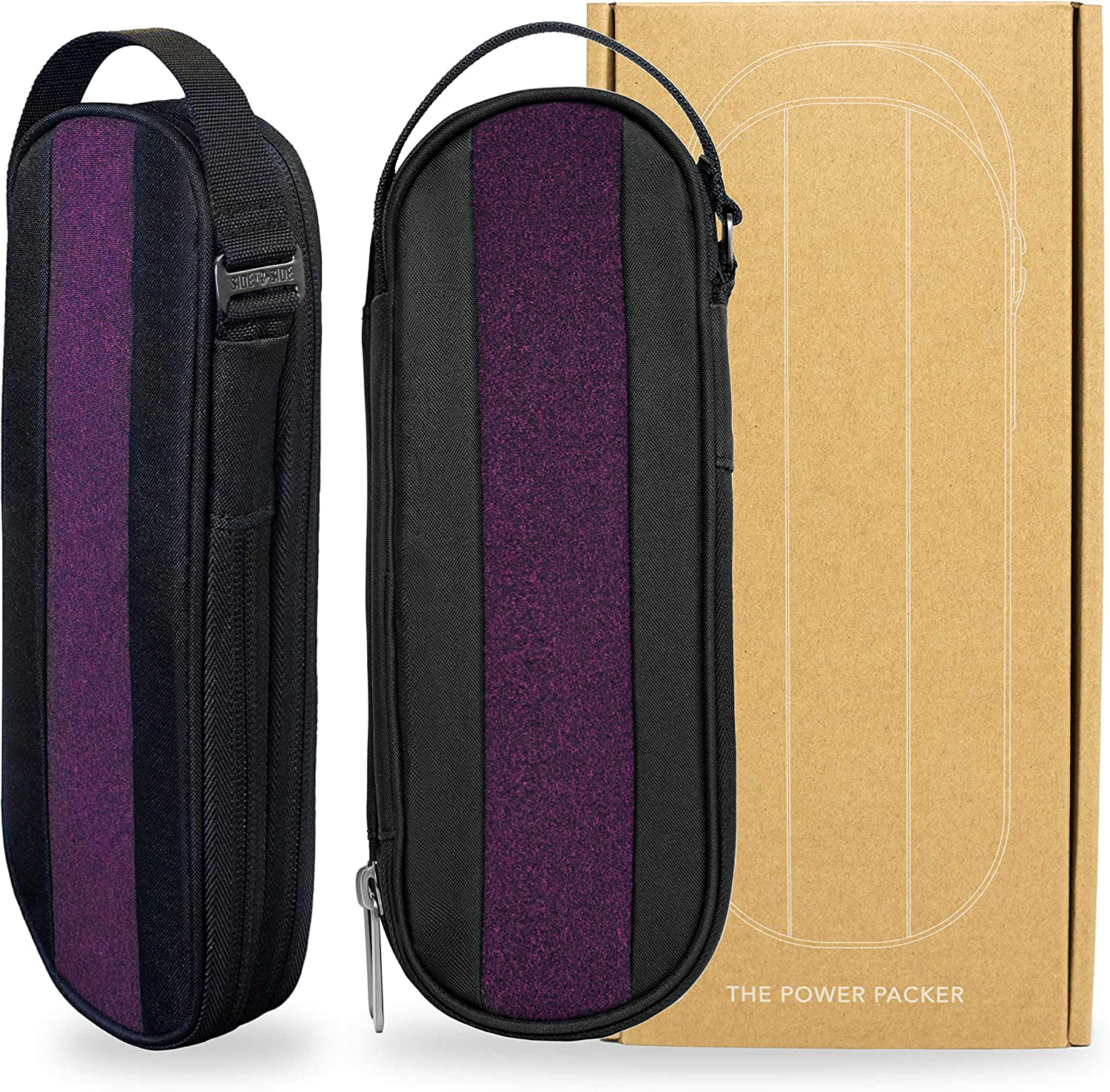 Bordeaux Cables /& EDC Gear Pouch Electronics /& Cord Case Premium Travel Tech Bag Organiser POWER PACKER by SIDE BY SIDE