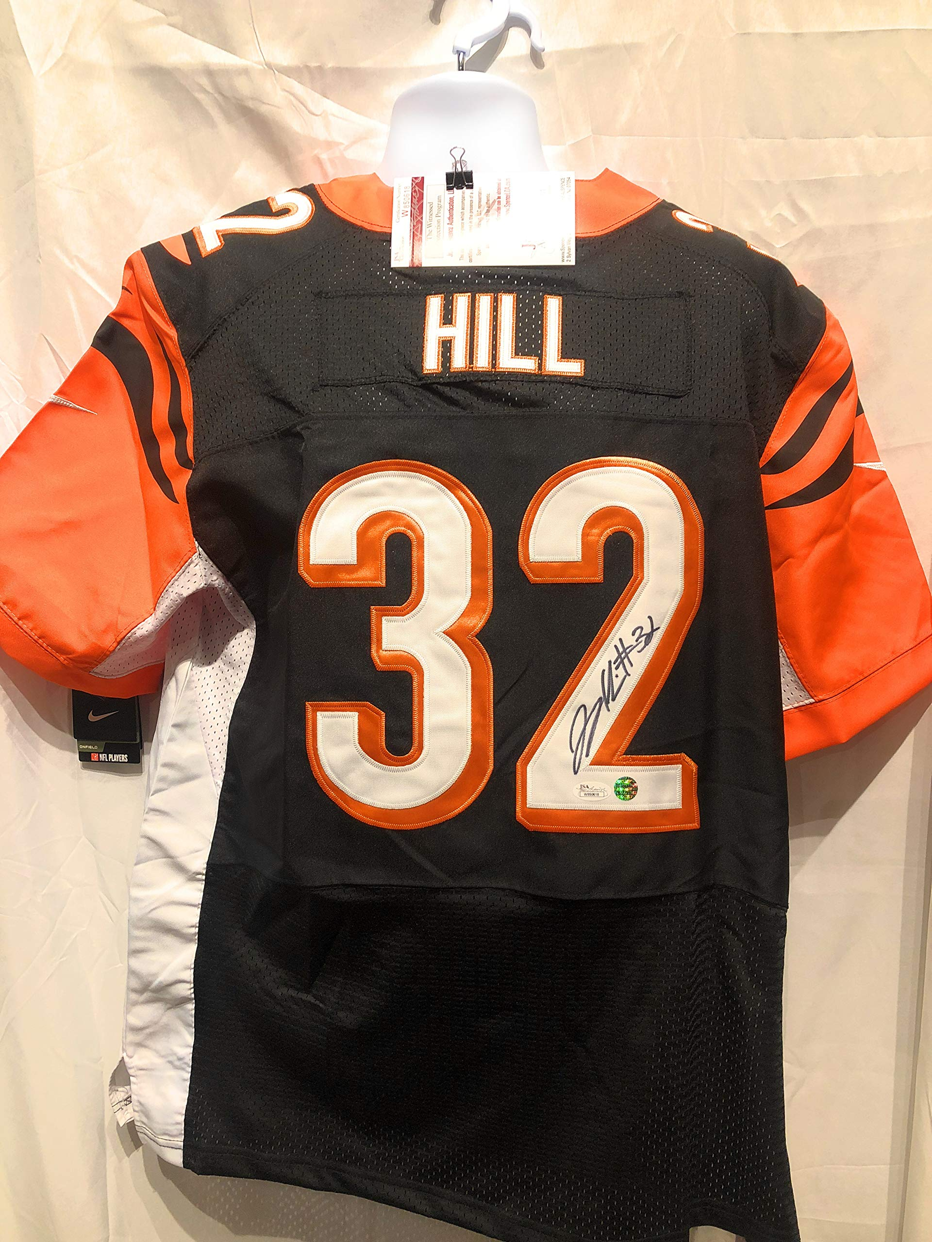 Jeremy Hill Cincinnati Bengals Signed Autograph Nike Jersey JSA Witnessed Certified