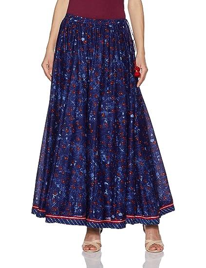 95cc1b0b13 Biba Women's Cotton Skirt L Indigo at Amazon Women's Clothing store: